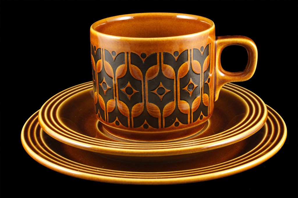Retro style pottery design and decoration Hornsea Pottery